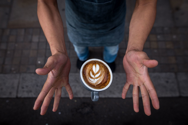 David Wallace Shoots Photographer - Latte to go