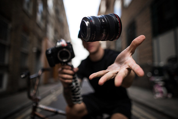 David Wallace Shoots Photographer - Watch that lens