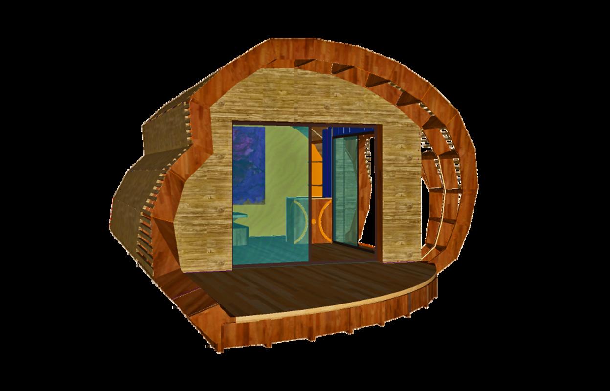 Habitat insolite et écologique - TyKabane - I Maquette 3D I