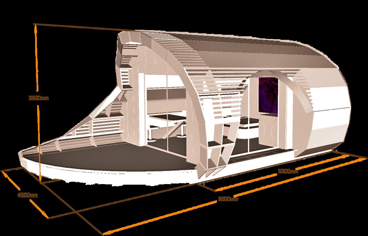 Habitat insolite et écologique - TyKabane - I Surface habitable : 20 m² I Surface terrasse : 8 m² I