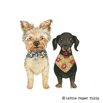 Little Paper Tulip - How adorable is Winnie and Archie? These were painted for Chloe.