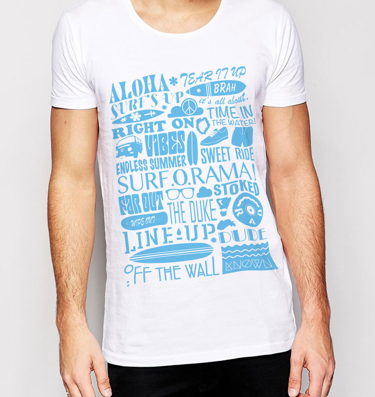 Oliver Chapman - Leeds Surf Club T-Shirt design