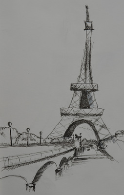 Create and Grow-Portfolio - Tour eiffel sketch (made in 2014).
