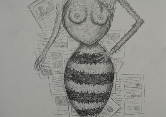 Create and Grow-Portfolio - Making of-wasp waist idea.