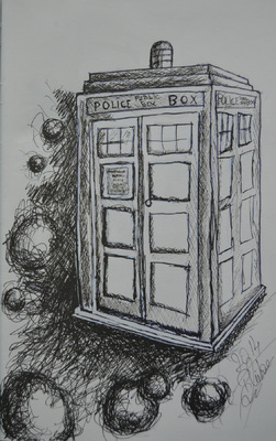 Create and Grow-Portfolio - TARDIS sketch-Doctor Who made in 2014