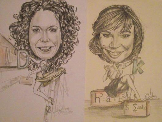 Create and Grow-Portfolio - Elegant but sexy professors-caricature.