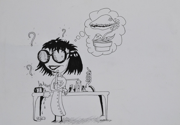 Create and Grow-Portfolio - Mad scientist. Poster idea for an NGO titled  How its made