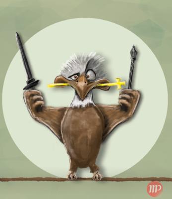 Create and Grow-Portfolio - Surprised eagle 2016