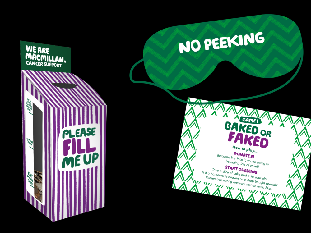 Ben Golik - To ensure every coffee morning raises money, a new donation box was created with little nudges encouraging people to fill it right up. Baked or faked was one of several new games created to further top up the pot.