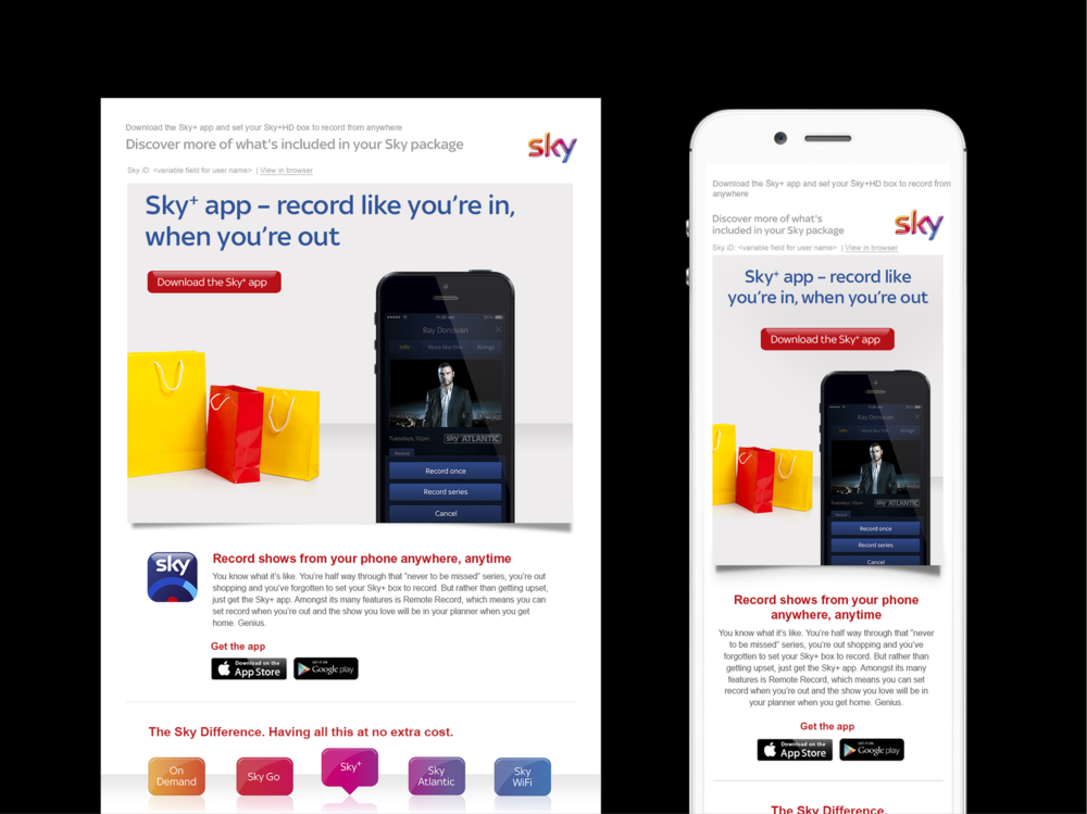 Ben Golik - Thanks to Sky's database, we can spot which customers are using which features of their package. More importantly, we can individually target each of those who aren't.