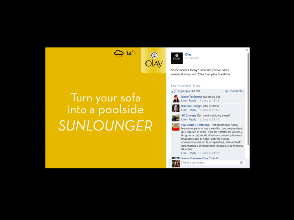 Ben Golik - An example of a Facebook post featuring the sort of quotation the Olay audience is known to share on social channels like Facebook and Pinterest.