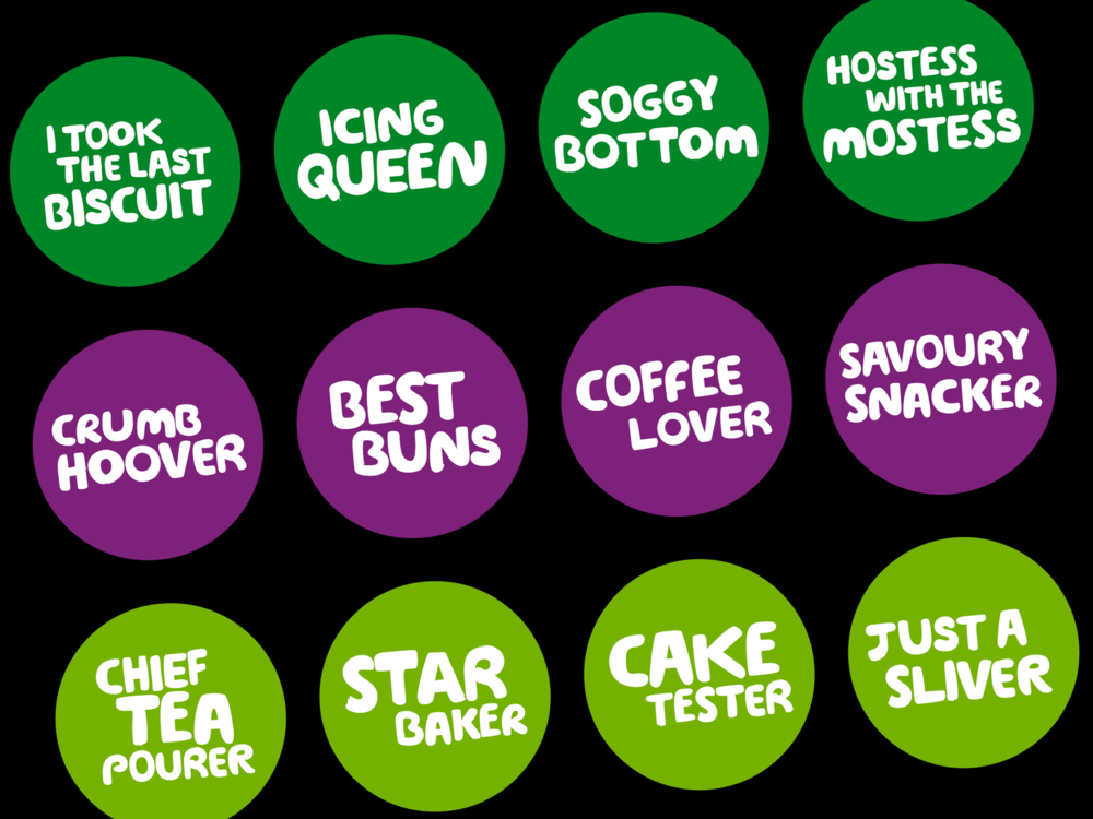 Ben Golik - These fun stickers are also included in the kit. Different versions were created for kits, depending on whether they are for an event being held at home, a school, a workplace or community centre.