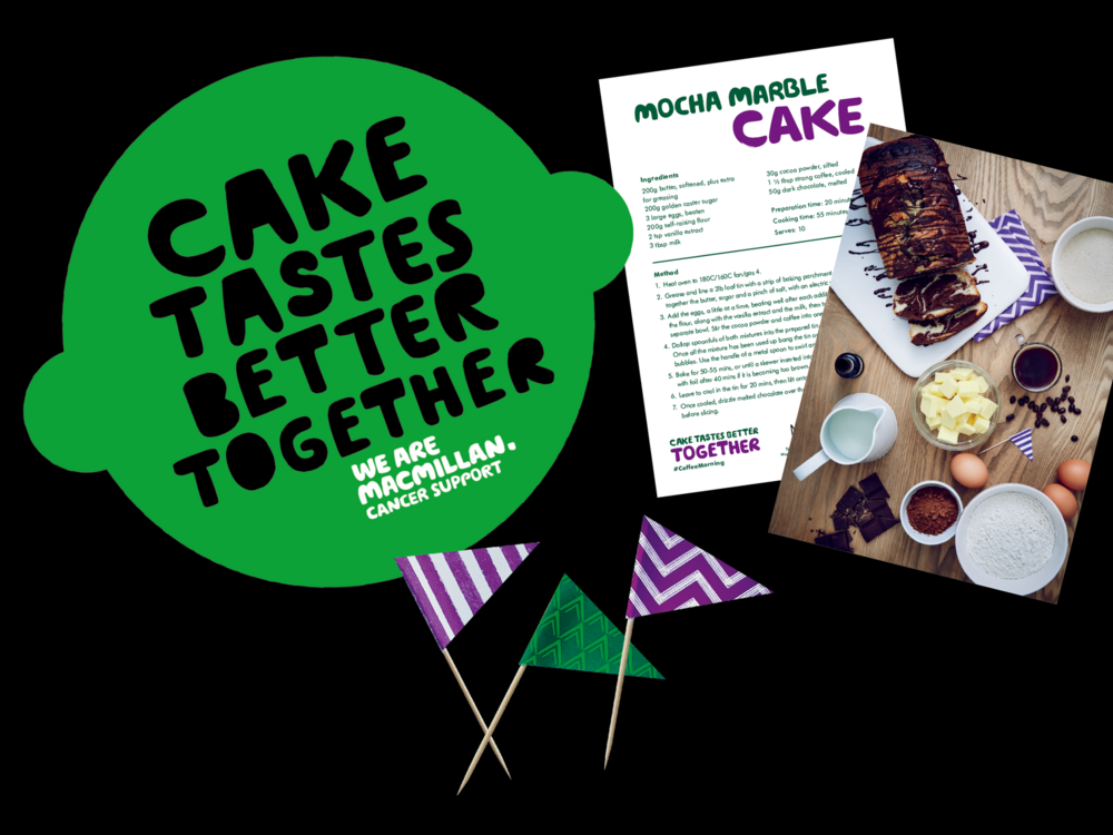 Ben Golik - The best bit in the kit? The cake duster! Hostesses are encouraged to share their centrepiece creation with the hashtag #coffeemorning