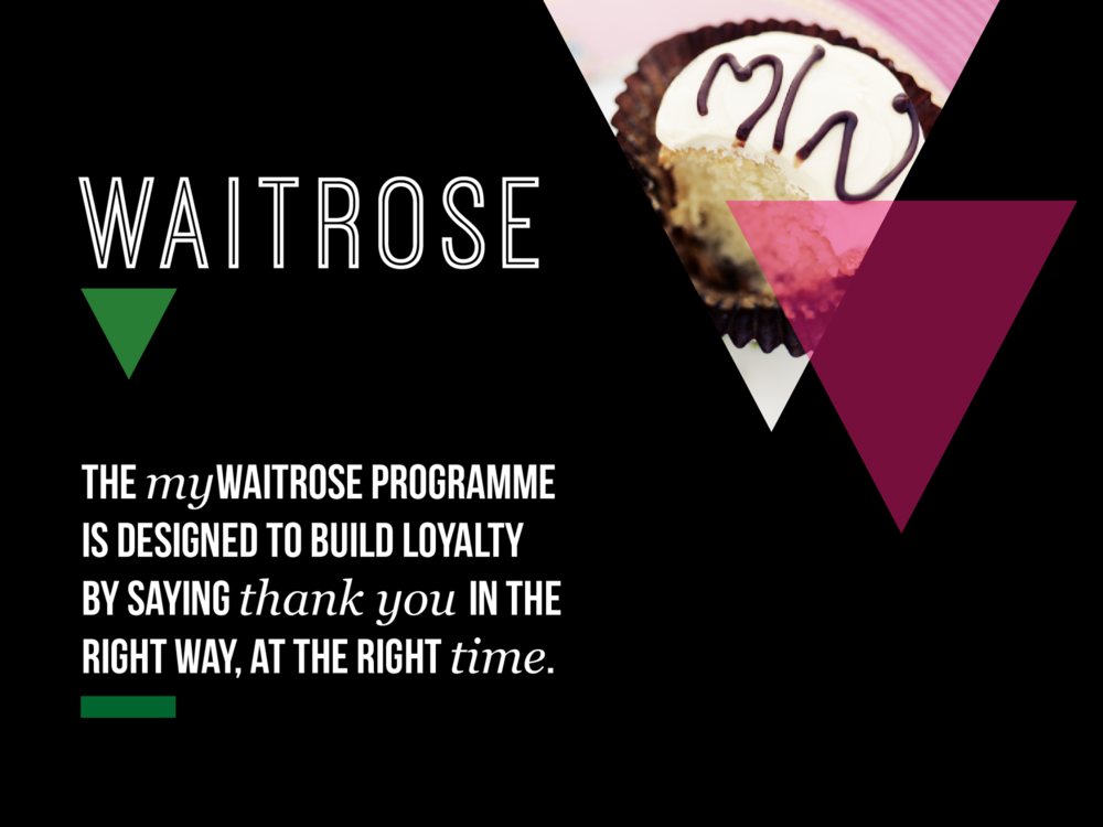 Ben Golik - MyWaitrose was conceived as the Anti-Clubcard - a programme based on personalised service and little thank yous, not bribes and coupons.