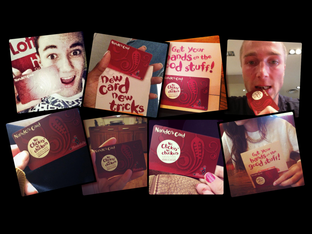 Ben Golik - A few of the 3,500 #nandoscard selfies that were shared without prompting in launch week.