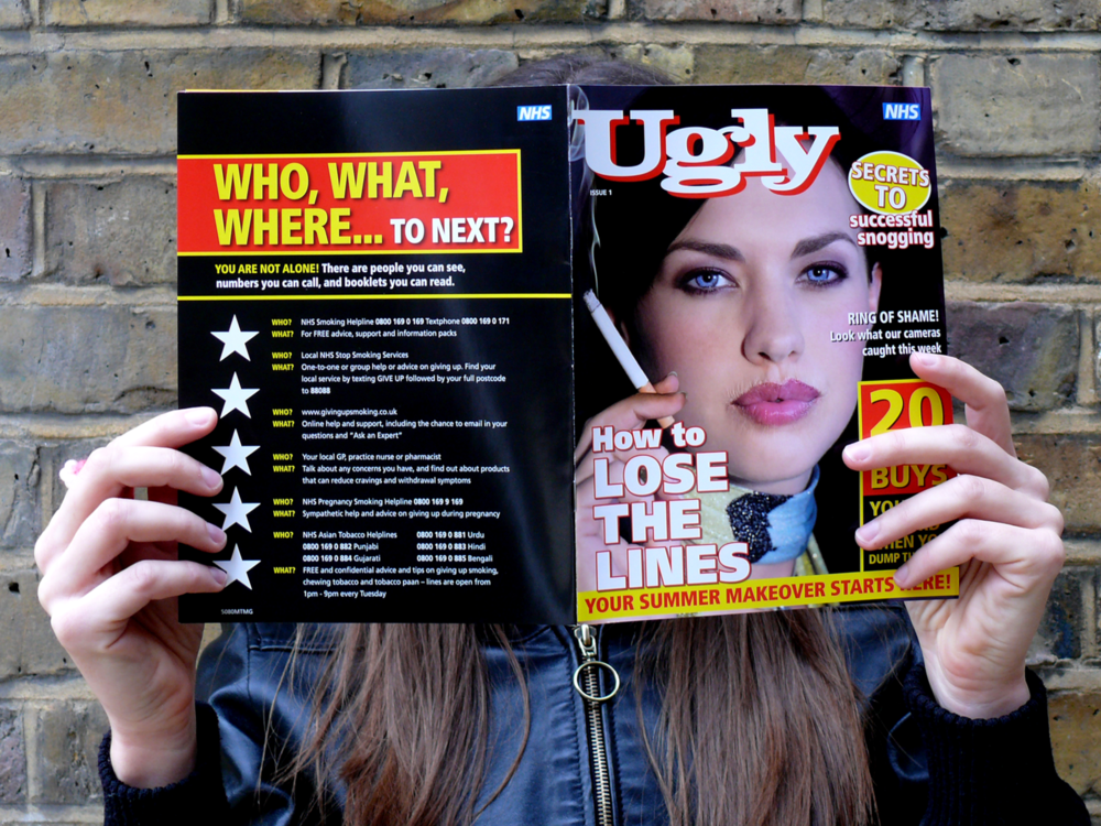 Ben Golik - Texting in response to any of the messages gave the responder a free subscription to Ugly magazine - our take on a title like Heat.