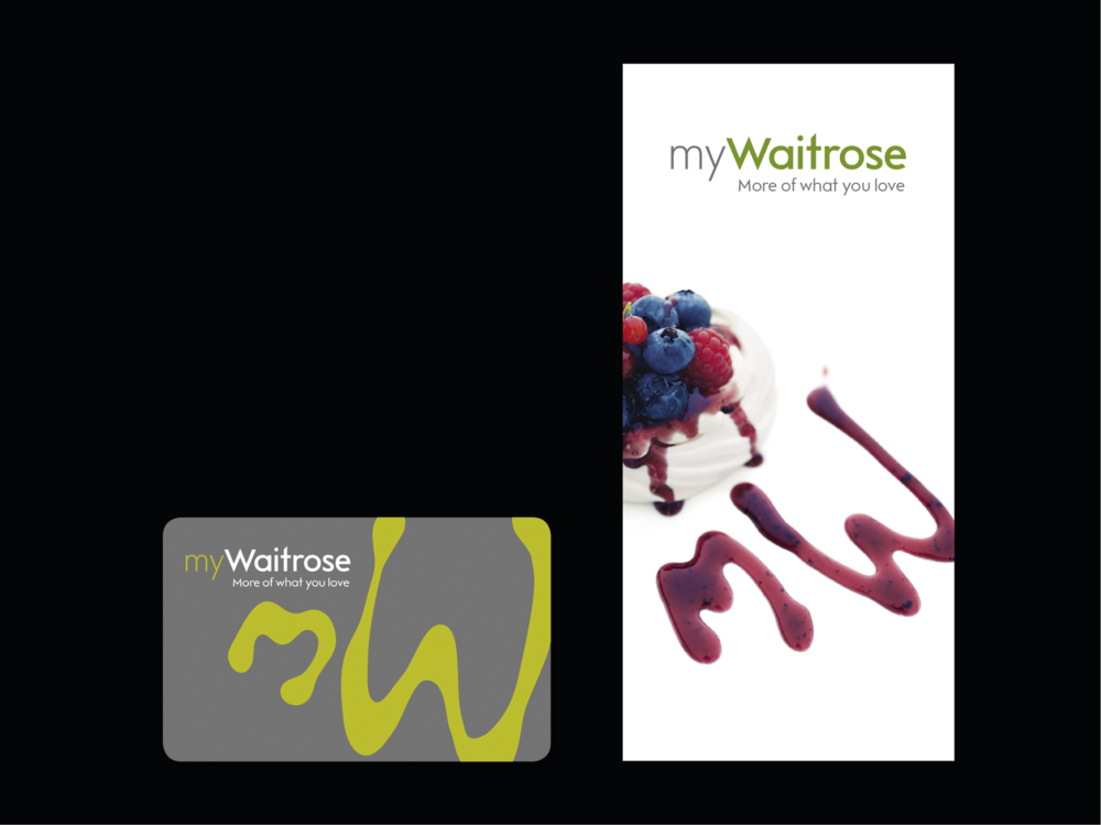Ben Golik - The original myWaitrose launch pack included a customer-facing version of the manifesto. The MW icon was created by drizzling vinegar into olive oil, then tracing the shapes created.