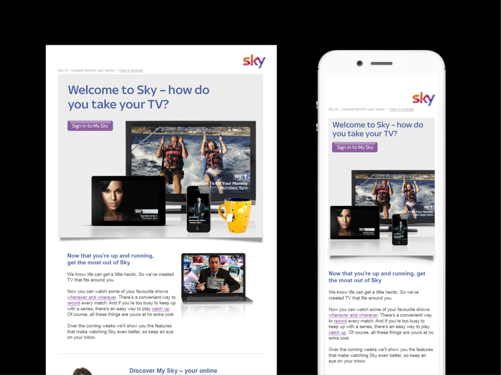 Ben Golik - The programme is making Sky an indispensable entertainment partner that is totally entangled with its customers' lives.