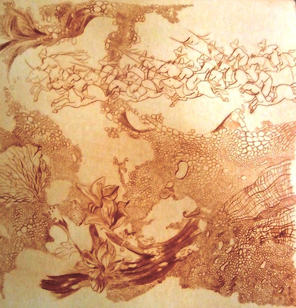 ana neto - Untitled drypoint 30x30cm 2009