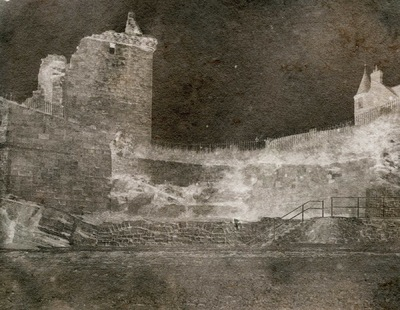 Paper , Shadows and Light. - St Andrews Castle. Adamsons process Calotype.Ruscombe