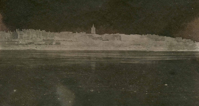 Paper , Shadows and Light. - St Andrews from the West sands.Adamsons process Calotype.