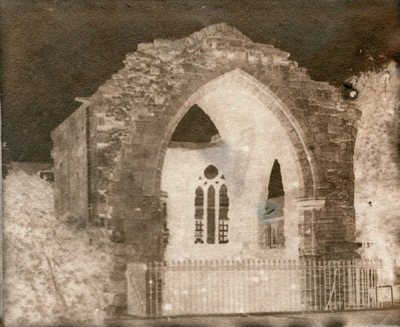Paper , Shadows and Light. - Blackfriars Chapel St Andrews.Adamsons process Calotype.