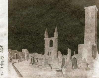 Paper , Shadows and Light. - The Cathedral St Andrews. Adamsons process Calotype.