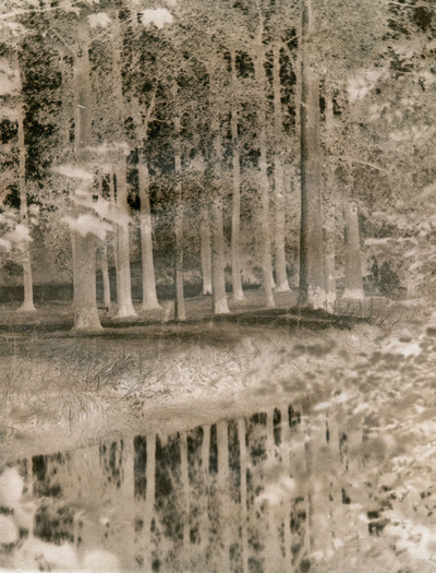 Paper , Shadows and Light. - The River mole at Betchworth , Samuel Buckles process Calotype.