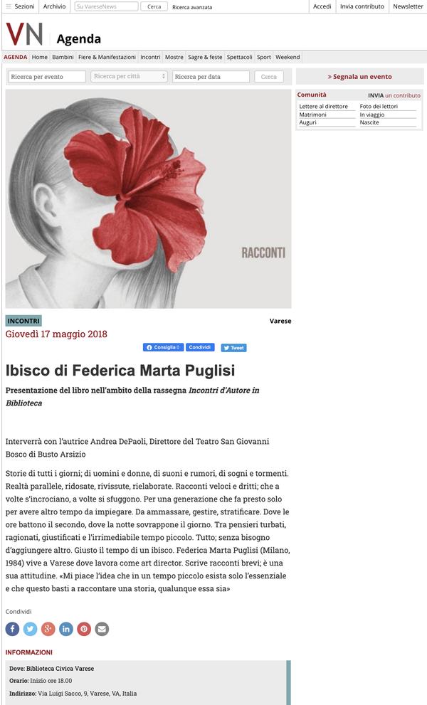 NAIMARTA - Varese News 17.05.2018