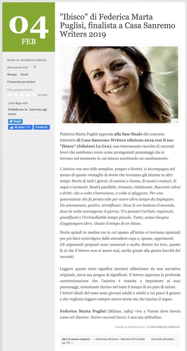 NAIMARTA - Casa Sanremo Writers 04.02.2019