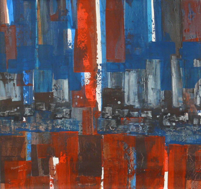 laurenttrezegnies - acrylic on canvas size : 105 / 110 cm