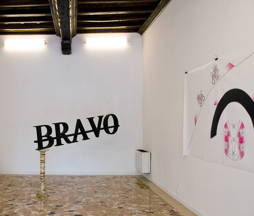 PLACENTIA ARTE - bravo hot wire foam cut painted and treated with resin cm. 60 x 240 x 10, 2015 ph. credit Marco Fava
