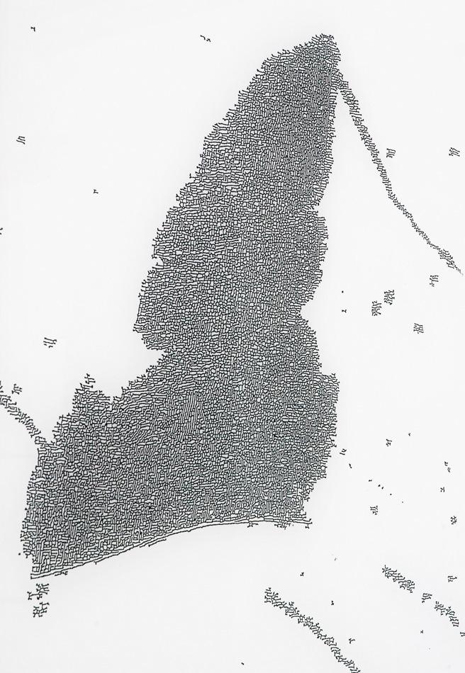 PLACENTIA ARTE - trillions [det.] direct print on plexiglass, cm. 132 x 93, 2016 photo credit Marco Fava