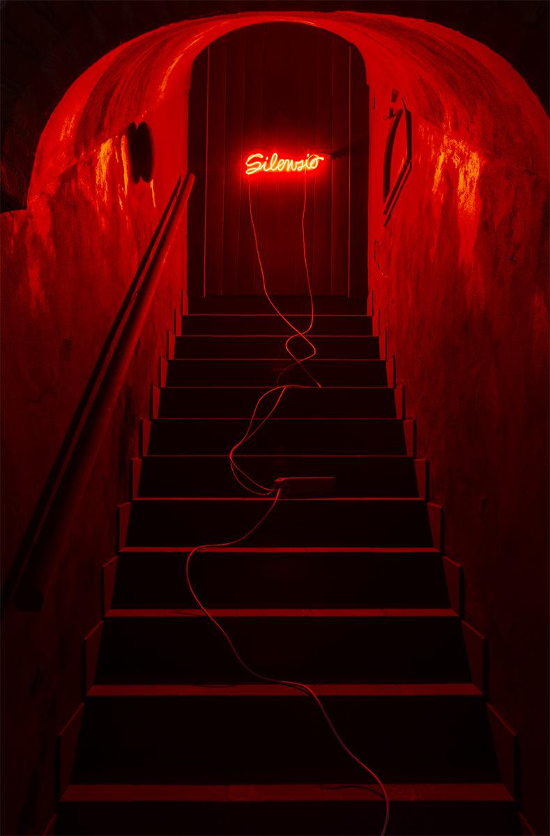 PLACENTIA ARTE - est. 1991 - silenzio neon cm. 20x60x3, 2016 ph. credit - Marco Fava