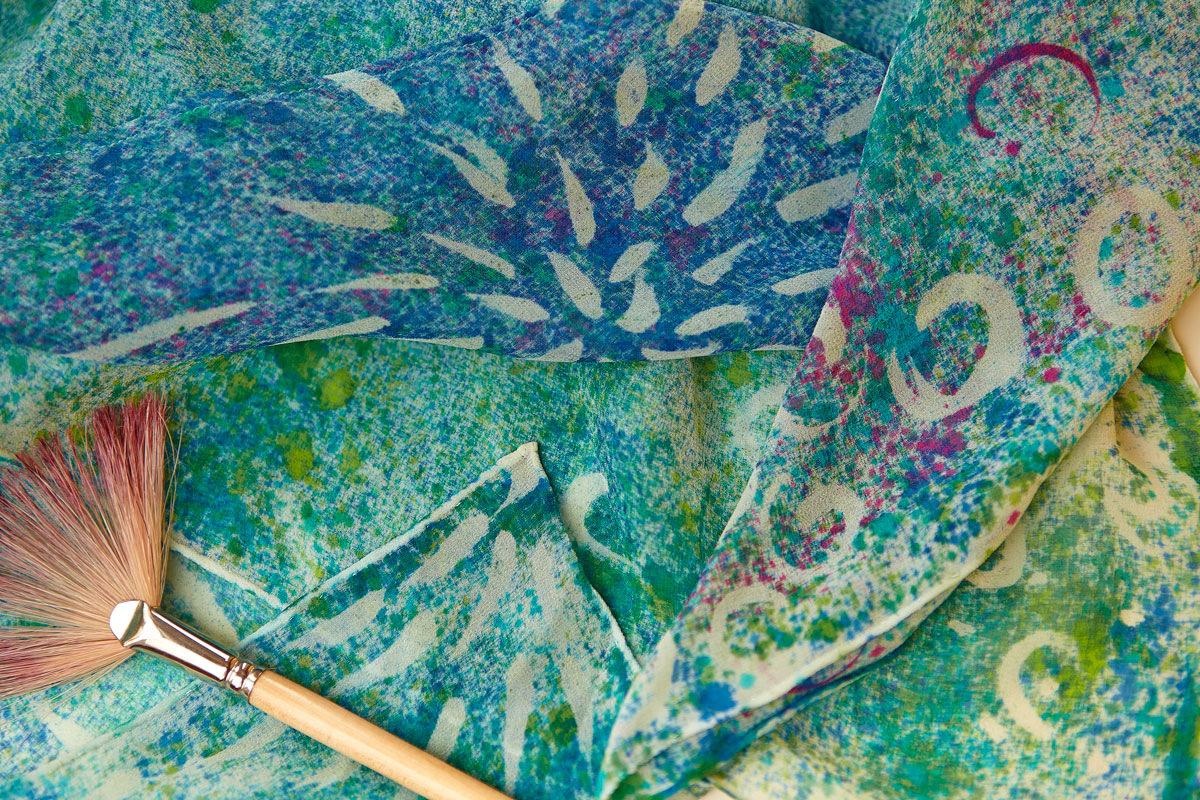 Maria Kravets Textile Design - Crepe Georgette Blouse, Detail, photo: Dasha Zorkina