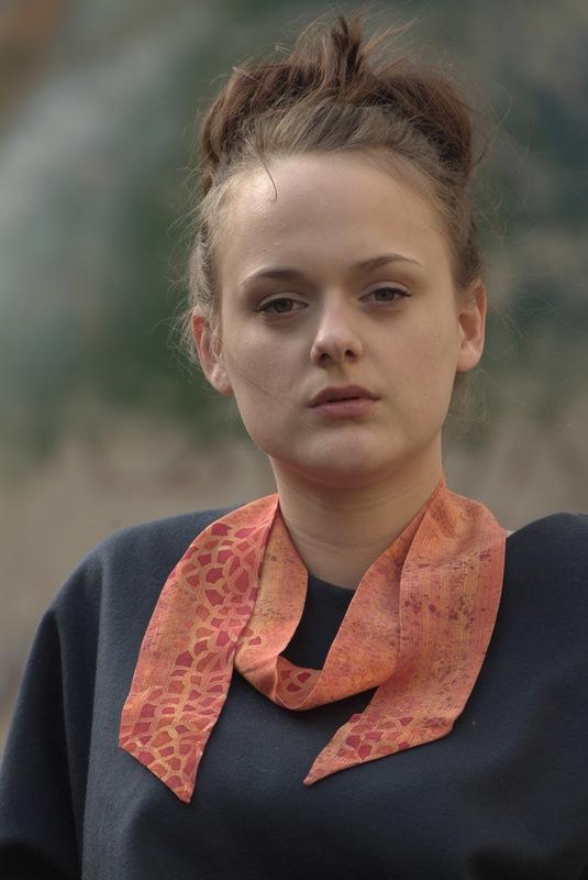 Maria Kravets Textile Design - Crepe de Chine Ribbon, photo: Eckard Jonalik