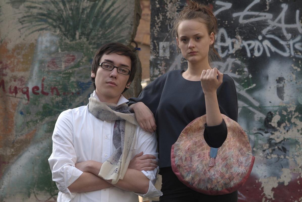 Maria Kravets Textile Design - Jacquard Bag and Woolscarf, photo: Eckard Jonalik