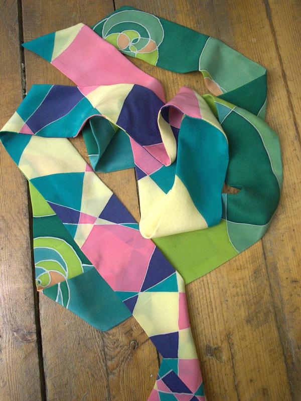 Maria Kravets Textile Design - Crepe de Chine Ribbons, photo: Alexander Kravets
