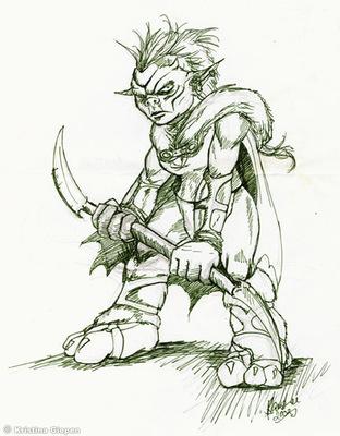 BansheeArts - Goblin Warrior