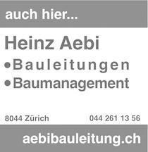 Heinz Aebi Bauleitungen • Baumanagement