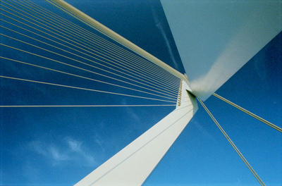 Art Photography - Erasmus Bridge, Rotterdam, Netherlands.