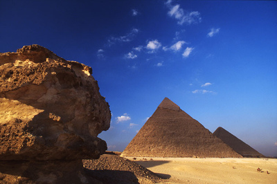 Art Photography - Pyramids at Giza.