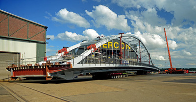 Art Photography - New bridge, rolling out of hangar at Mercon, Gorkum.