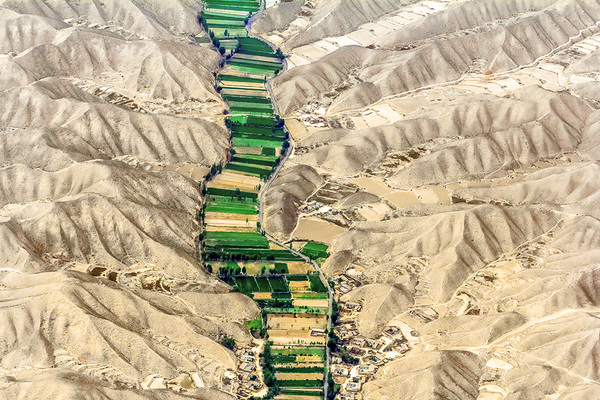 michal sikorski photography - Mountainous and sandy hills around Lanzhou, Gansu Province, China.