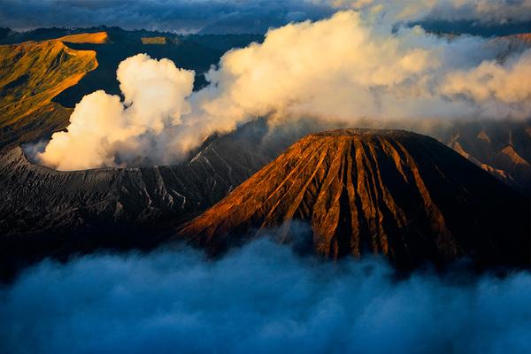 michal sikorski photography - Mount Batok next to Mount Bromo, East Java, Indonesia.