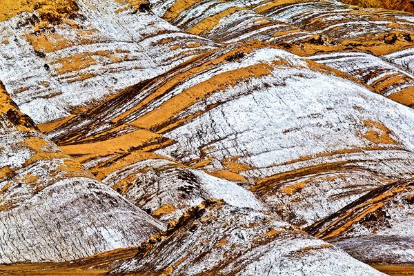 michal sikorski photography - Rock formations, Tianshan Mountains (Tengri Tagh or Tengir-Too), Aksu region, Xinjiang, China.