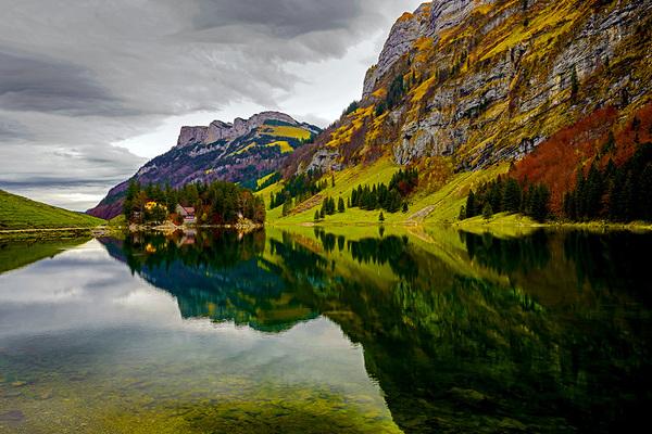 michal sikorski photography - Landscape around Seealpsee lake in the Alpstein range.