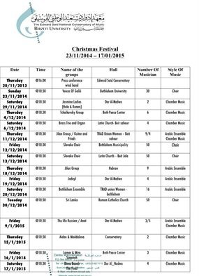Bethlehem Development Foundation - The Christmas Festivals