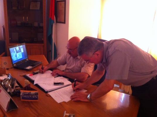 Bethlehem Development Foundation - مؤسسة تطوير بيت لحم توقع مذكرة تفاهم مع بلدية بيت ساحور