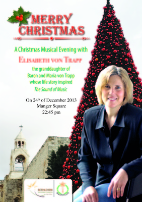 Bethlehem Development Foundation - A Christmas Musical Event With Elisabeth Von Trapp.